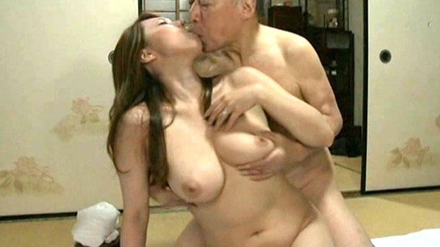 【近親相姦】未亡人になった息子嫁に義父が代わりに種付けセックス…風間ゆみ