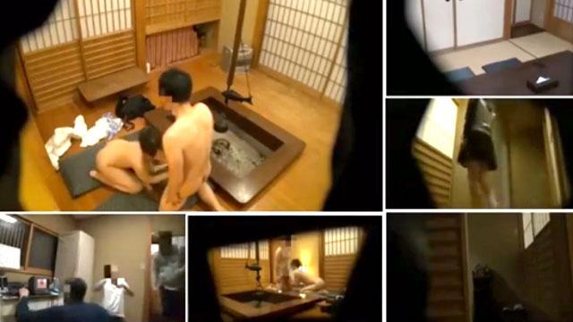 【寝取らせ盗撮】妻の淫らな姿を見たくて大量の隠しカメラを設置!