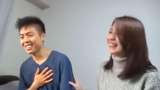 スレンダー妻、ガチガチに緊張した童貞くんを男にする 前田可奈子