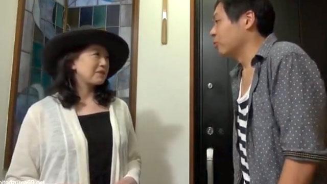 【美川朱鷺】還暦お婆ちゃん、孫とデートして若返り連続中出しセックスww